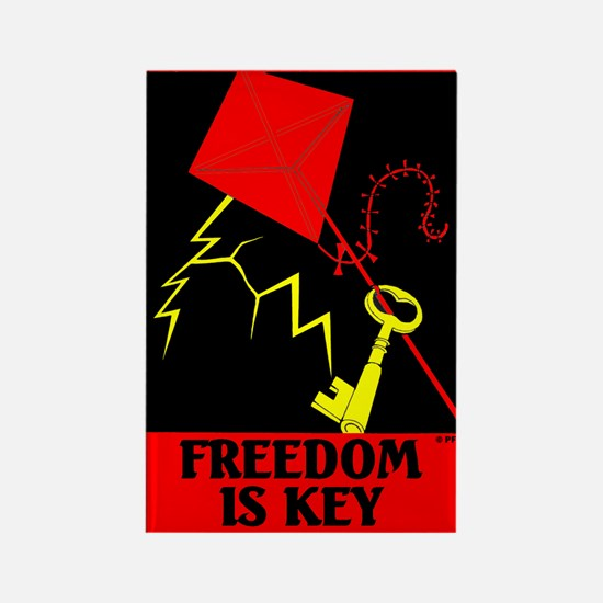 Freedom is Key Rectangle Magnet