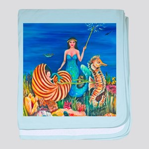 A Mermaids Fairy Godmother baby blanket