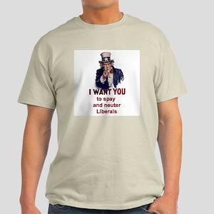 US Spay and Neuter Ash Grey T-Shirt