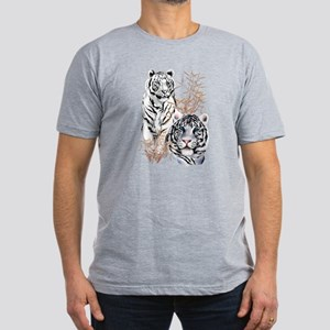 White Tigers Shirts Men's Fitted T-Shirt (dark)