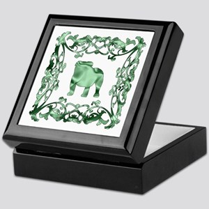 Bulldog Lattice Keepsake Box