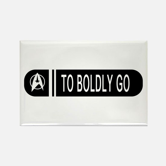 To Boldly Go Rectangle Magnet