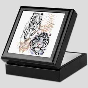 White Tigers Shirts Keepsake Box