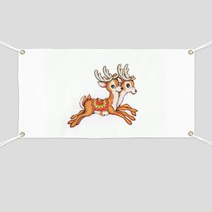 Vintage Christmas Reindeer Banner