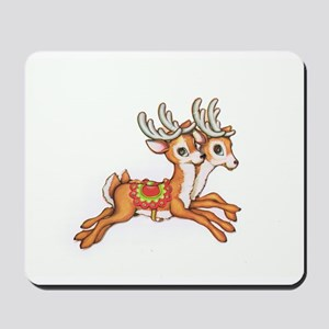 Vintage Christmas Reindeer Mousepad