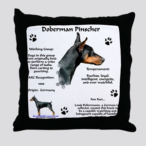 Dobie 1 Throw Pillow