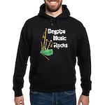 Bagpipe Music Rocks Hoodie (dark)