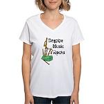 Bagpipe Music Rocks Women's V-Neck T-Shirt