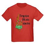Bagpipe Music Rocks Kids Dark T-Shirt