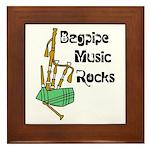 Bagpipe Music Rocks Framed Tile