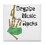 Bagpipe Music Rocks Tile Coaster