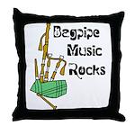 Bagpipe Music Rocks Throw Pillow