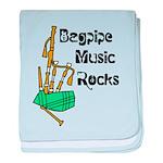 Bagpipe Music Rocks baby blanket