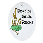 Bagpipe Music Rocks Ornament (Oval)