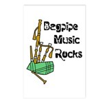 Bagpipe Music Rocks Postcards (Package of 8)