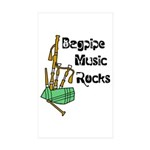 Bagpipe Music Rocks Sticker (Rectangle 10 pk)