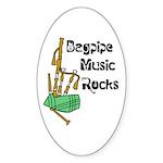 Bagpipe Music Rocks Sticker (Oval 10 pk)