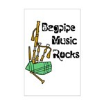 Bagpipe Music Rocks Mini Poster Print