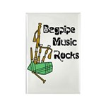 Bagpipe Music Rocks Rectangle Magnet (10 pack)