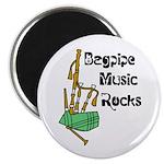 Bagpipe Music Rocks Magnet
