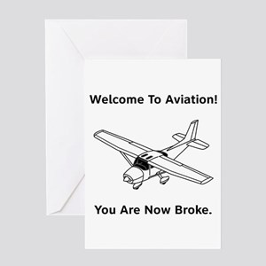 Aviation Broke Style B Greeting Card