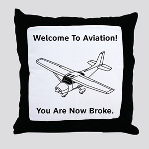Aviation Broke Style B Throw Pillow