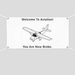 Aviation Broke Style B Banner