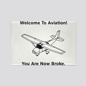 Aviation Broke Style B Rectangle Magnet