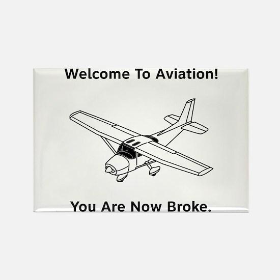 Aviation Broke Style B Rectangle Magnet