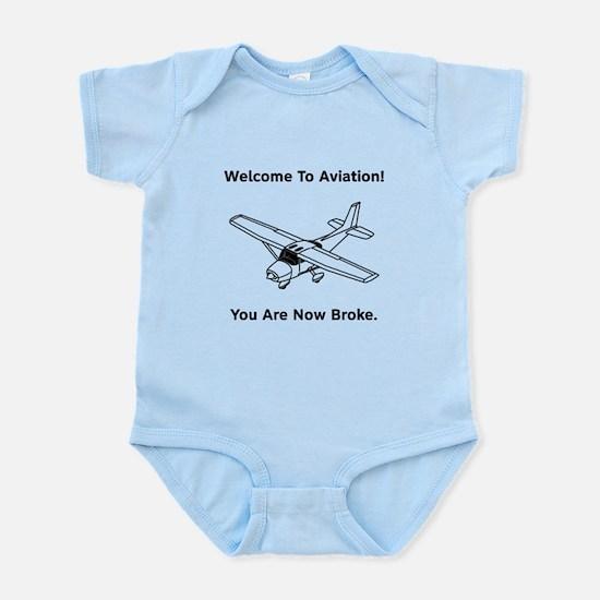 Aviation Broke Style B Infant Bodysuit