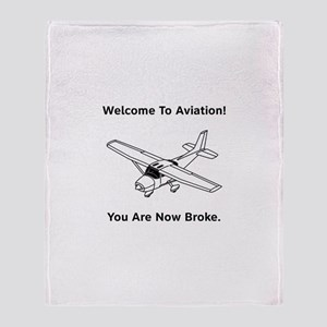 Aviation Broke Style B Throw Blanket