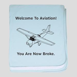 Aviation Broke Style B baby blanket