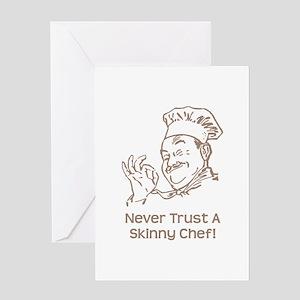 Skinny Chef Greeting Card