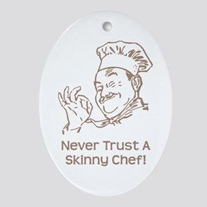 Skinny Chef Ornament (Oval)