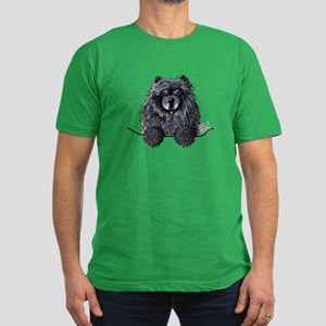 Black Chow Chow Men's Fitted T-Shirt (dark)