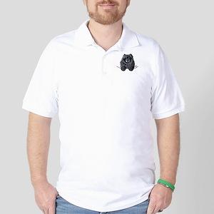 Black Chow Chow Golf Shirt