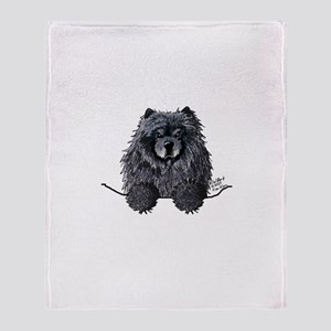Black Chow Chow Throw Blanket