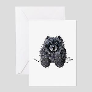 Black Chow Chow Greeting Card