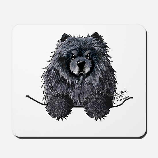 Black Chow Chow Mousepad