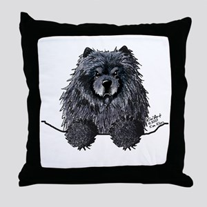 Black Chow Chow Throw Pillow