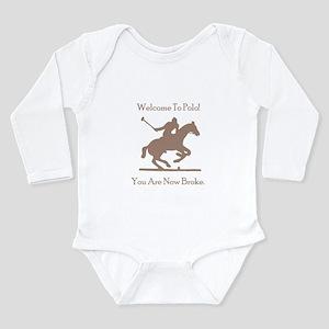 Polo Broke Long Sleeve Infant Bodysuit