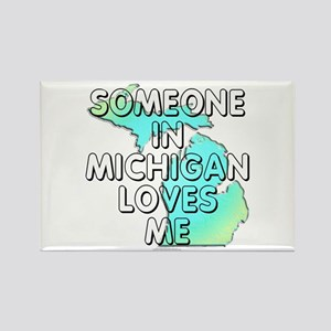 Someone in Michigan Rectangle Magnet