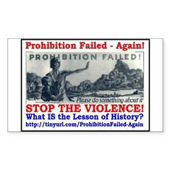 ProhibitionFailed-1 Sticker (Rectangle 10 pk)