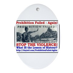 ProhibitionFailed-1 Ornament (Oval)