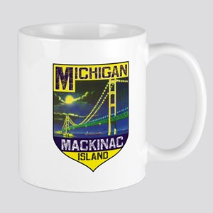 Mackinac Island Michigan Bridge Vinage Mugs