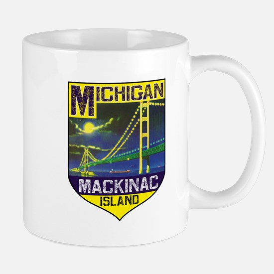 Mackinac Island Michigan Bridge Vinage Mugs