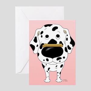 Dalmatian Valentine's Day Greeting Card