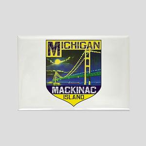 Mackinac Island Michigan Bridge Vinage Magnets