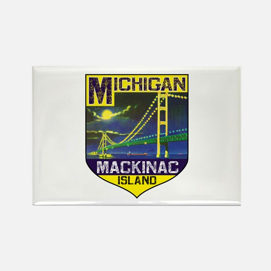 Mackinac Island Michigan Bridge Vinage Magnets
