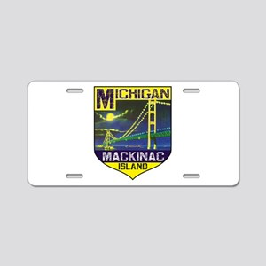 Mackinac Island Michigan Br Aluminum License Plate